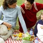 Familie spiser